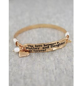 Mother Daughter Cuff Bracelet