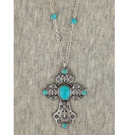 Crystal Cross Pendant Crystal Necklace