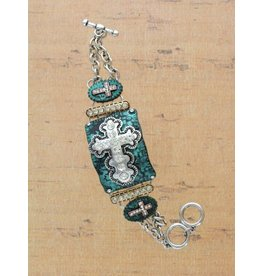 Classic Cross Crystal Bracelet