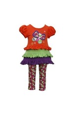 ORANGE BUTTERFLY MULTI LAYER WITH LEGGINGS