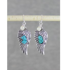 Spread Your Wings Turquoise Earrings