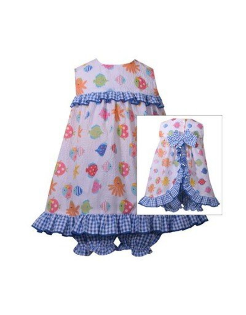 Sea Creatures Dress with Ruffle Panty