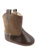 Brown/Taupe Crawling Western Boots
