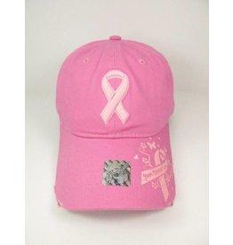 Ribbon Ball Cap Pink
