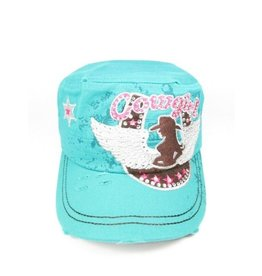 Cowgirl Cap Turquoise