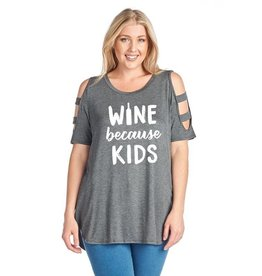 Wine Because Kids (Charcoal)