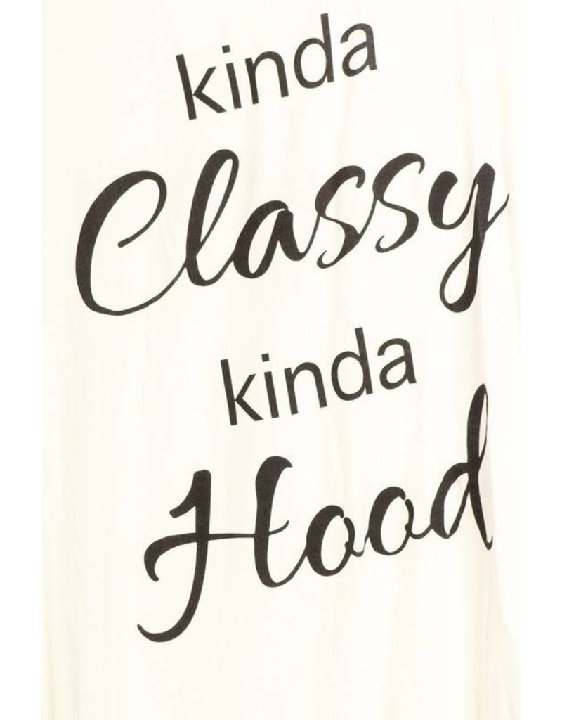 Racerback Tank Kinda Classy Kinda Hood (Ivory)