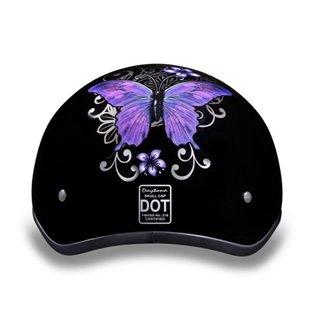 Daytona Helmets Daytona Half Helmet - Purple Butterfly