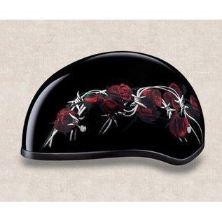 Daytona Helmets Daytona Half Helmet - Barbed Roses Red