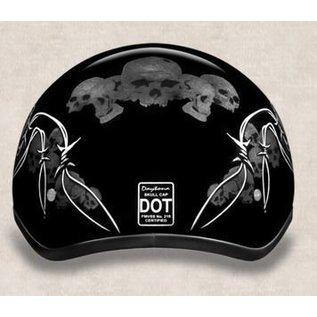 Daytona Helmets Daytona Half Helmet - Barbed Skulls