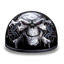 Daytona Helmets Daytona Half Helmet - Cross Bones