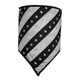 Zan Headgear Combo Gaiter Black/White Flag