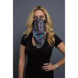 Hair Glove HG Bandana Mask Butterfly Gray