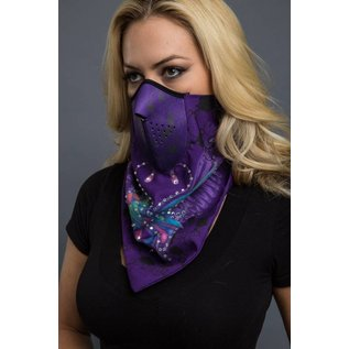 Hair Glove HG Bandana Mask Butterfly Purple