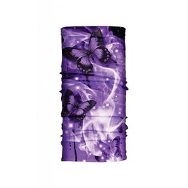 Hair Glove EZ Band Tube Purple Butterflies