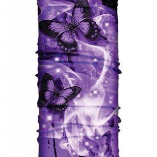 Hair Glove EZ Band Tube Purple Butterflies