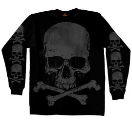 Hot Leather Shirt LS Jumbo Skull