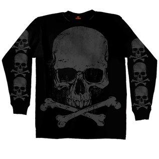 Hot Leather Shirt LS Jumbo Skull