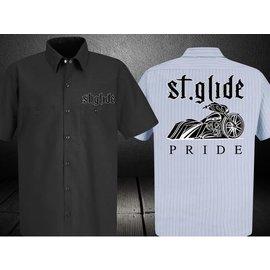 Nasty Baggers Work Shirt Street Glide Pride Lt Blue M