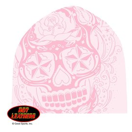 Hot Leather Stocking Cap Sugar Skull