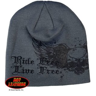 Hot Leather Knit Cap.  One size fits all.