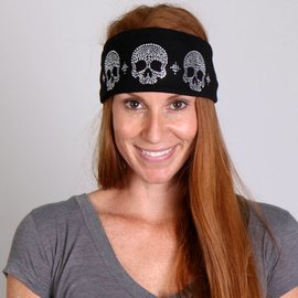 Hot Leather Bling Wrap Skulls