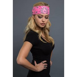 Hair Glove EZ Band Pink Ribbon Paisley