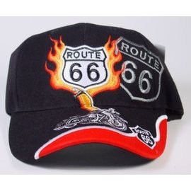 Real Time Products Hat Rt66 Black Motorcycle