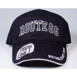 Real Time Products Hat Black Route 66