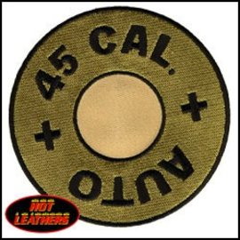 Hot Leather Patch 45 Cal 4in