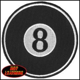 Hot Leather Patch 8 Ball 3in