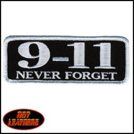 Hot Leather Patch 9-11 Never Forget 4in