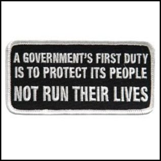 Hot Leather Patch A Governments First Duty 4in