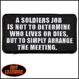 Hot Leather Patch A Soldiers Job 4in
