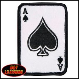 Hot Leather Patch Ace of Spade 2in