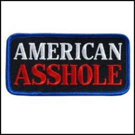 Hot Leather Patch American Asshole 4in