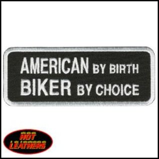 Hot Leather Patch American Biker By Choice 4in