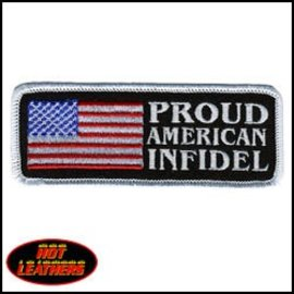 Hot Leather Patch American Infidel 4in