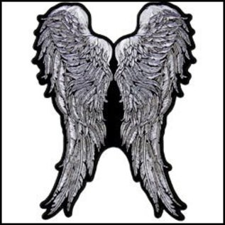 Hot Leather Patch Angel Wings 11in
