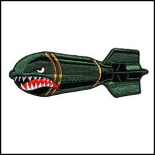 Hot Leather Patch Angry Missle 10in
