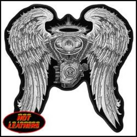Hot Leather Patch Asphalt Angel 10in