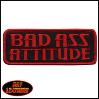 Hot Leather Patch Bad Ass Attitude 4in