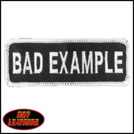 Hot Leather Patch Bad Example 4in
