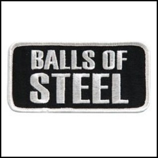 Hot Leather Patch Balls Of Steel 4in