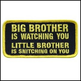 Hot Leather Patch Big Brother Is Watching 4in