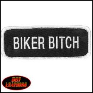 Hot Leather Patch Biker Bitch 4in