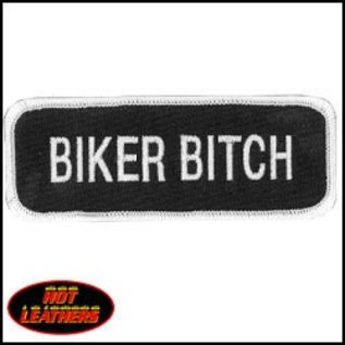 Hot Leather Patch Biker Bitch 4in