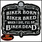 Hot Leather Patch Biker Born 3in