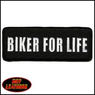 Hot Leather Patch Biker For Life 4in