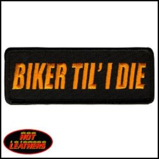 Hot Leather Patch Biker Til I Die 4in